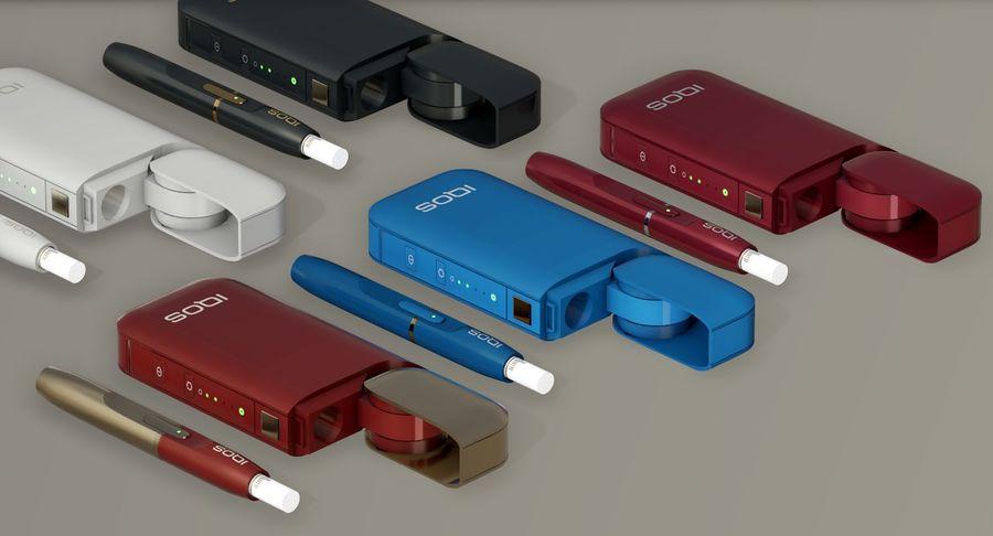 IQOS en cinco colores royalty-free modelo 3d - Preview no. 7