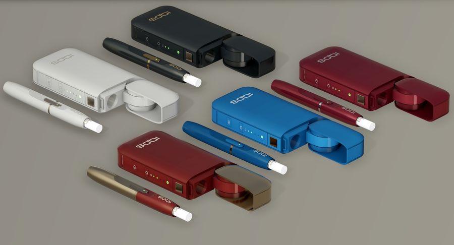IQOS en cinco colores royalty-free modelo 3d - Preview no. 5