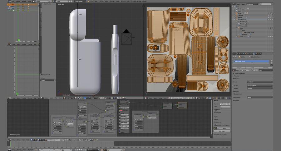 IQOS en cinco colores royalty-free modelo 3d - Preview no. 55