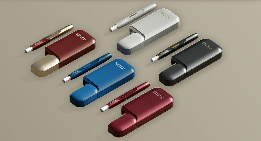 IQOS en cinco colores royalty-free modelo 3d - Preview no. 4
