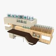 Lebensmittelgeschäft Regal 02 3d model