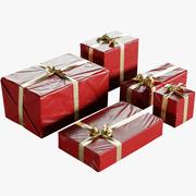 弓コレクションで包まれたクリスマスギフトボックス 3d model