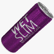 250ml 8.4oz Wet Slim Beverage Can 3d model