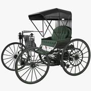 1893 Dureya Automobile Replica 3d model