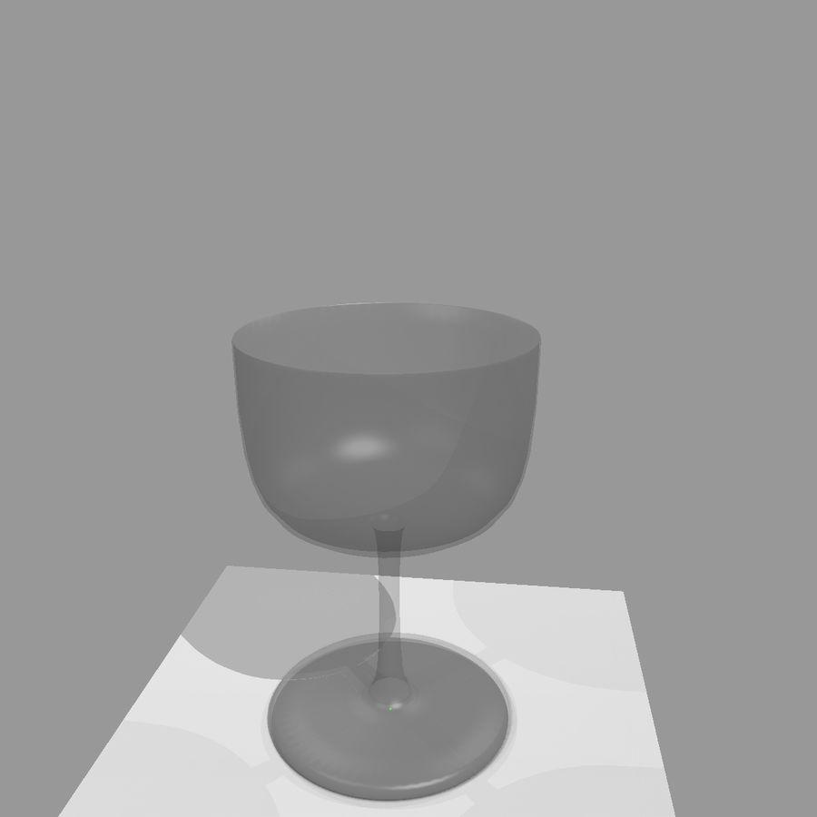 Animation de remplissage de coupe de verre à vin royalty-free 3d model - Preview no. 2