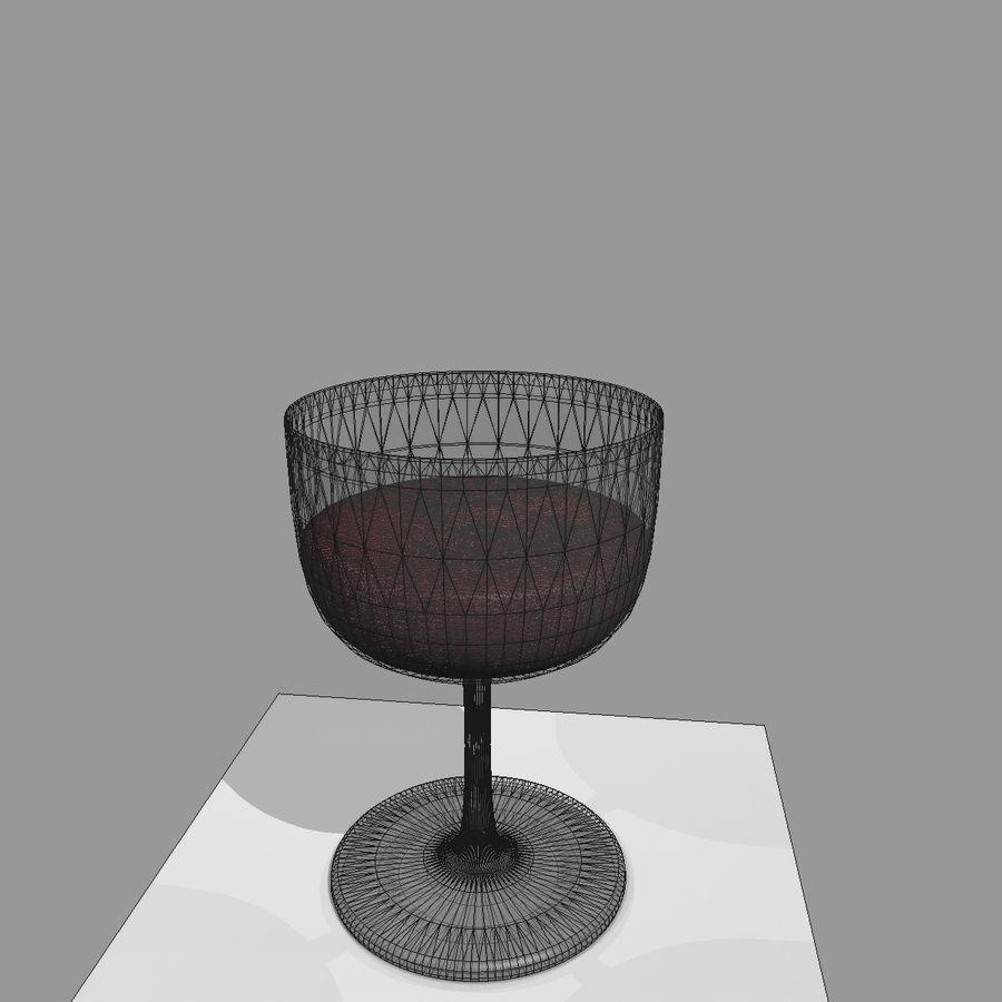 Animation de remplissage de coupe de verre à vin royalty-free 3d model - Preview no. 15