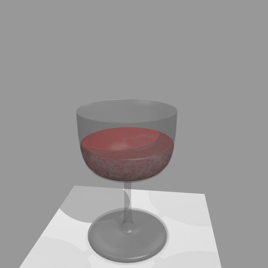 Animation de remplissage de coupe de verre à vin royalty-free 3d model - Preview no. 8