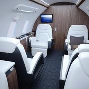 Bombardier Challenger Interior 3d model