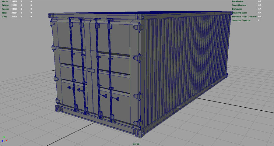 CONTAINER BLUE royalty-free 3d model - Preview no. 5