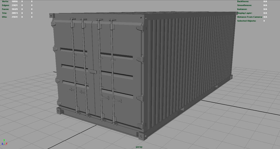 CONTAINER BLUE royalty-free 3d model - Preview no. 4