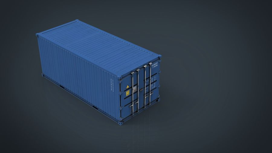 CONTAINER BLUE royalty-free 3d model - Preview no. 13