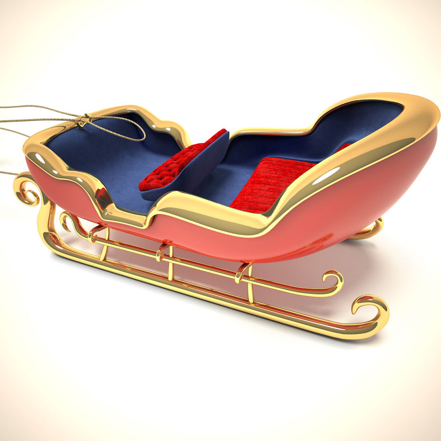 Traîneau du Père Noël royalty-free 3d model - Preview no. 5
