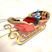 圣诞老人的雪橇 3d model