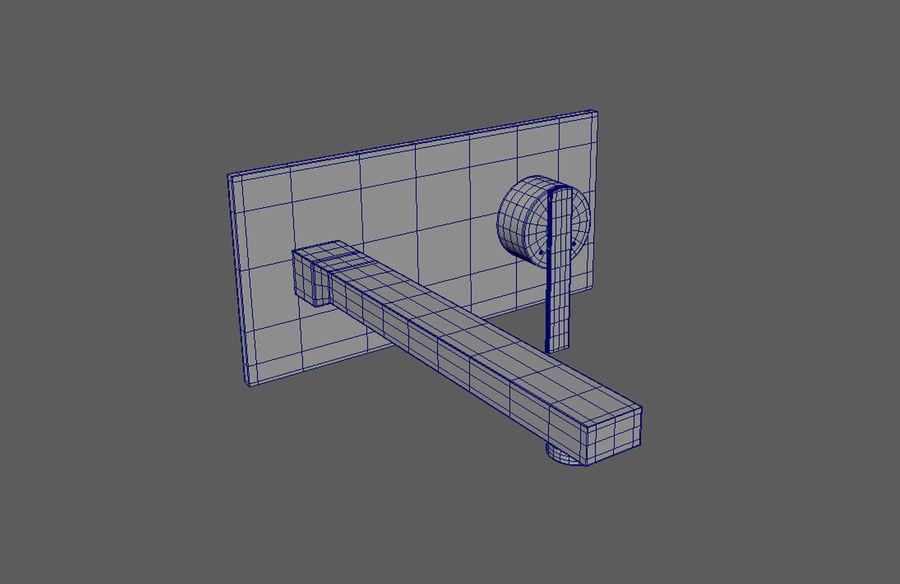 FAUCET Misturador para lavatório com alavanca simples FAUCET royalty-free 3d model - Preview no. 6