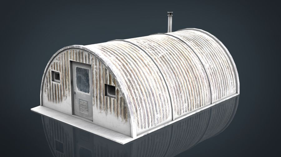 Artic Shelter royalty-free 3d model - Preview no. 2