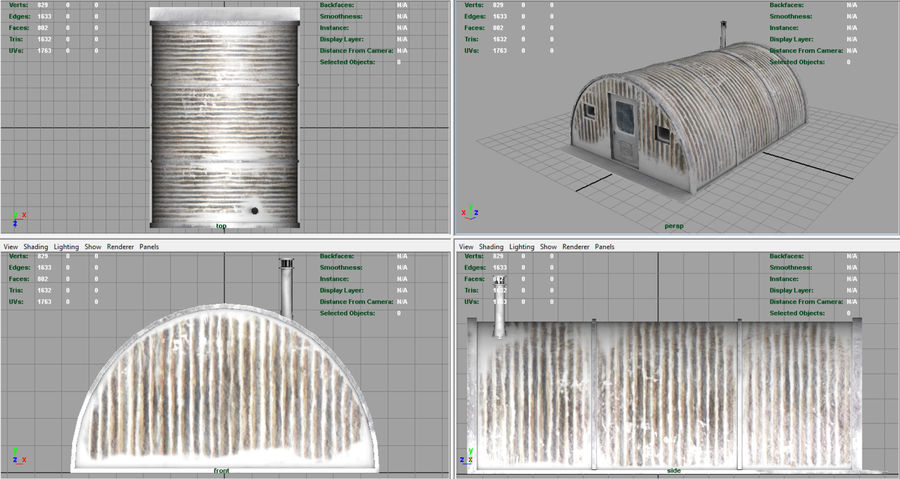 Artic Shelter royalty-free 3d model - Preview no. 6