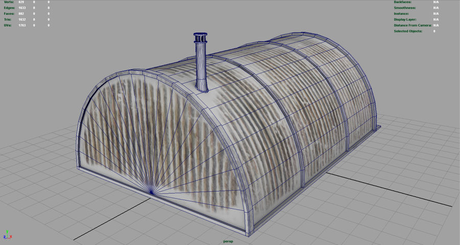 Artic Shelter royalty-free 3d model - Preview no. 9