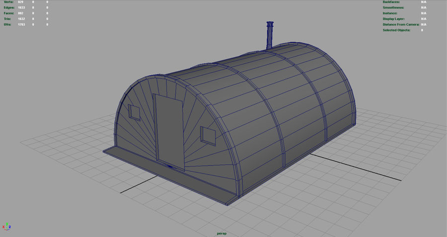 Artic Shelter royalty-free 3d model - Preview no. 5