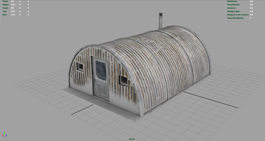 Artic Shelter royalty-free 3d model - Preview no. 3