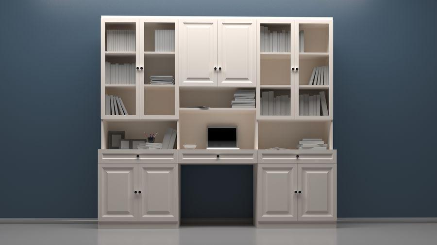 Bookshelf royalty-free 3d model - Preview no. 2