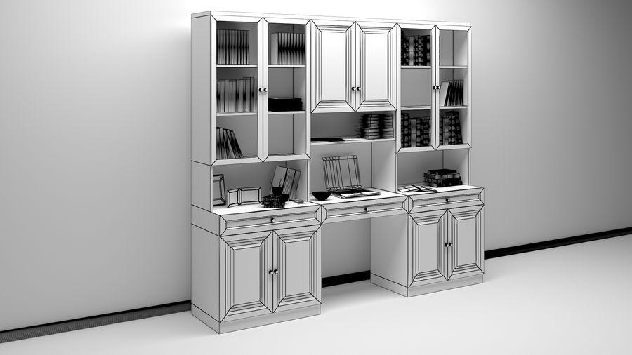 Bookshelf royalty-free 3d model - Preview no. 4