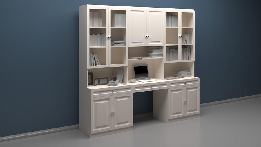 Bookshelf royalty-free 3d model - Preview no. 1