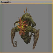 Low poly 3D Monster - The Dill Demon modelo 3d