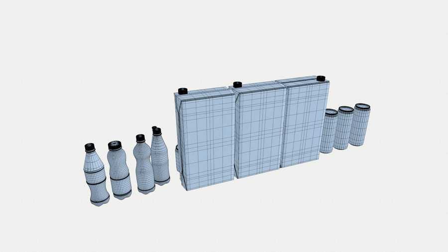 Bottles royalty-free 3d model - Preview no. 8