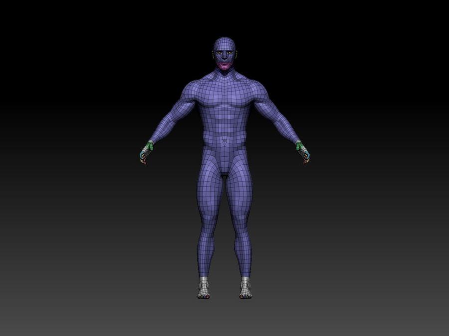 Basemesh do corpo masculino - Lowpoly - modelo 3D Modelo 3D de baixo poli royalty-free 3d model - Preview no. 3
