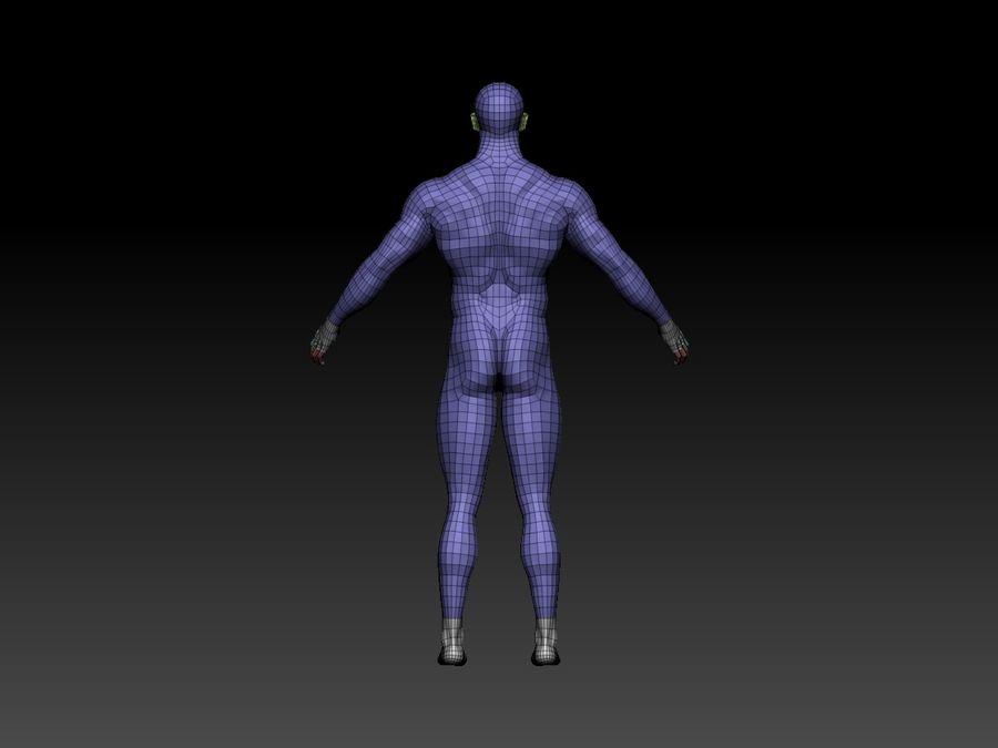 Basemesh do corpo masculino - Lowpoly - modelo 3D Modelo 3D de baixo poli royalty-free 3d model - Preview no. 5