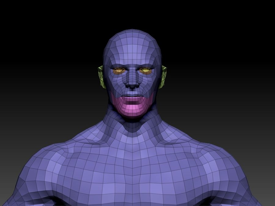 Basemesh do corpo masculino - Lowpoly - modelo 3D Modelo 3D de baixo poli royalty-free 3d model - Preview no. 1