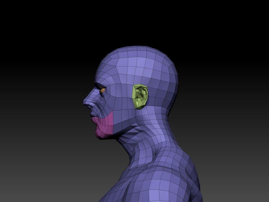 Basemesh do corpo masculino - Lowpoly - modelo 3D Modelo 3D de baixo poli royalty-free 3d model - Preview no. 2