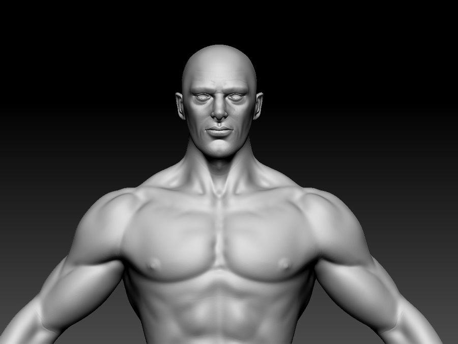 Basemesh do corpo masculino - Lowpoly - modelo 3D Modelo 3D de baixo poli royalty-free 3d model - Preview no. 6