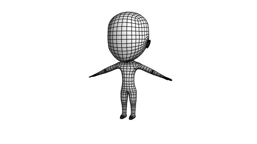 Chibi Boy Base royalty-free 3d model - Preview no. 2