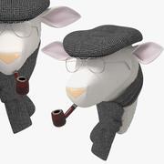 Miękka owca Rene 3d model