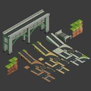 Модульные дороги и местности - ИЗОЛАНДИЯ 3d model