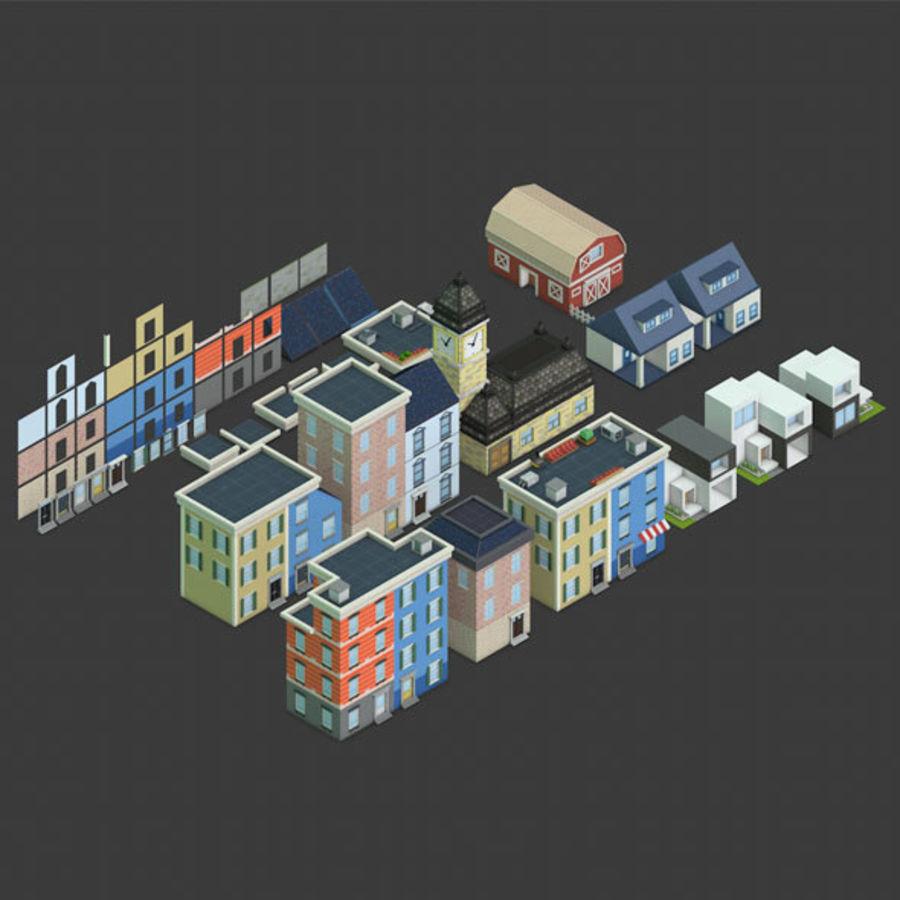 模块化建筑-ISOLAND royalty-free 3d model - Preview no. 1