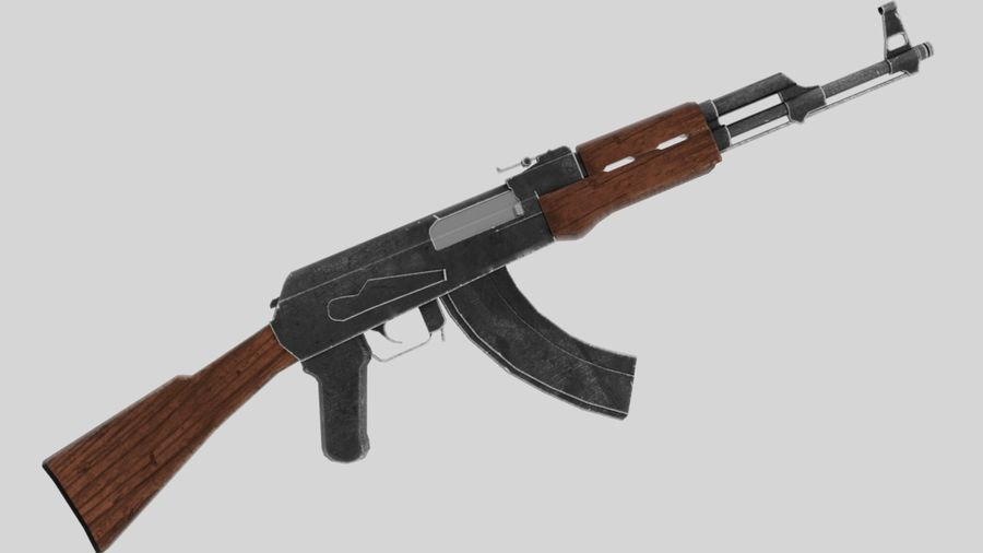 [LowPoly] AK-47 royalty-free 3d model - Preview no. 2