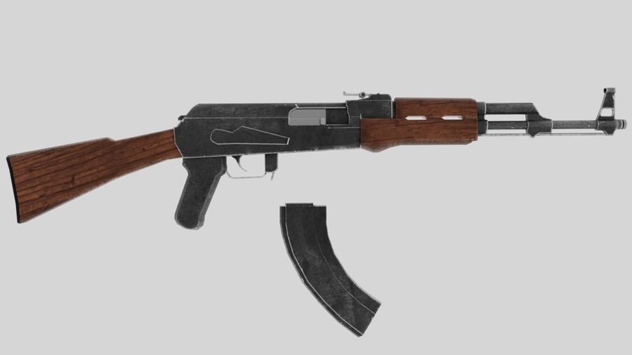 [LowPoly] AK-47 royalty-free 3d model - Preview no. 4