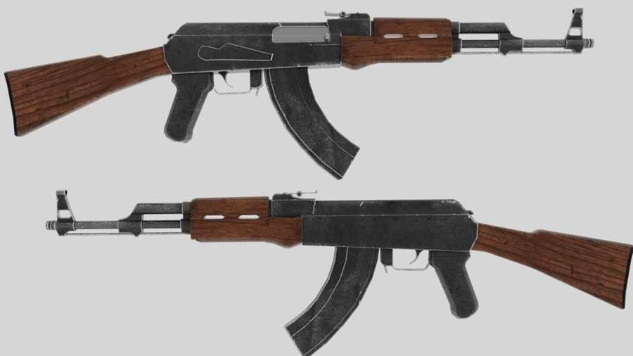 [LowPoly] AK-47 royalty-free 3d model - Preview no. 3