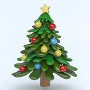 xmas tree icon 3d model