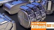 Kitbash Sci-Fi Old School 3d model
