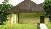 Backsteinhaus Villa mit Innenraum bereit 3d model