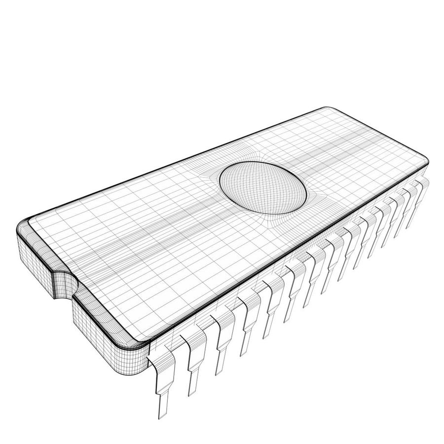 EPROM-Chip royalty-free 3d model - Preview no. 7