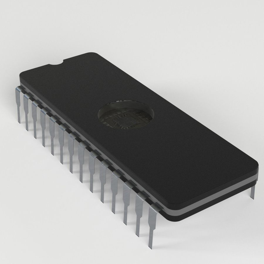 EPROM-Chip royalty-free 3d model - Preview no. 2