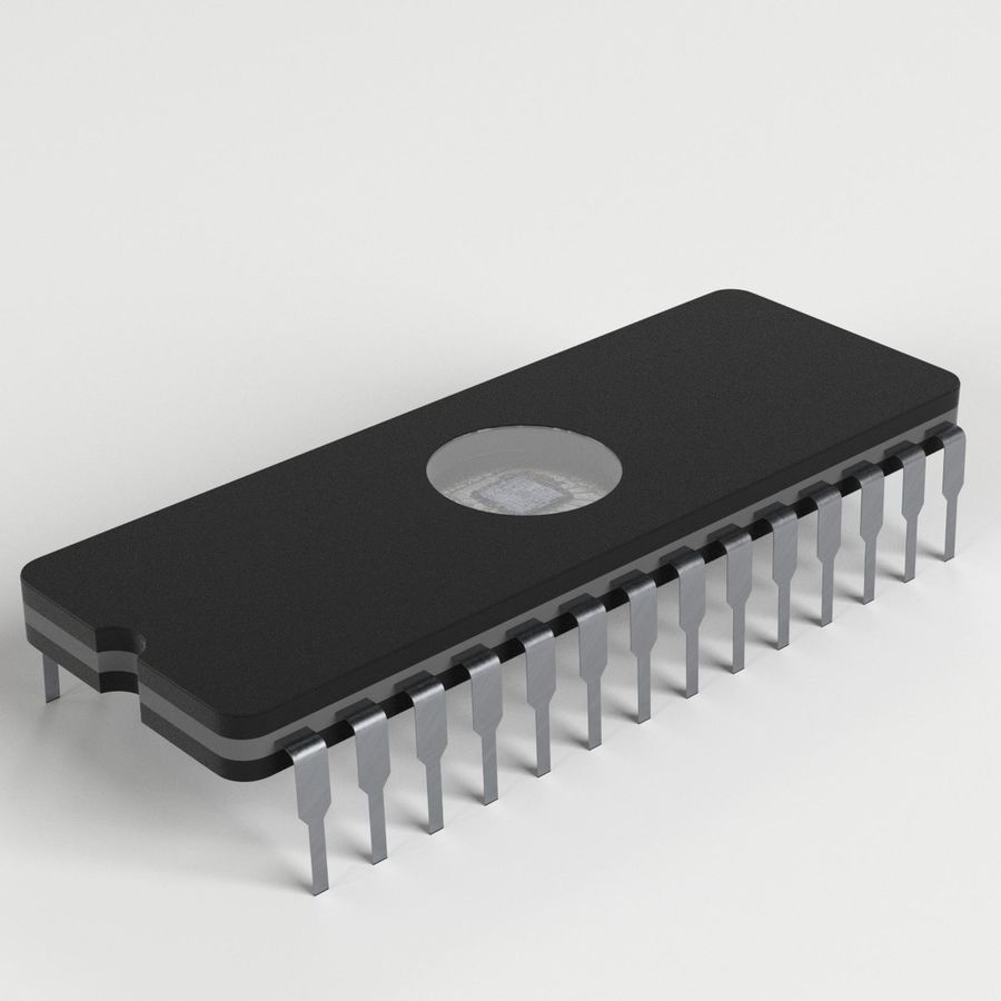 EPROM-Chip royalty-free 3d model - Preview no. 1