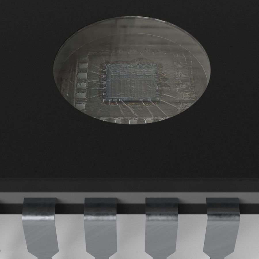 EPROM-Chip royalty-free 3d model - Preview no. 5