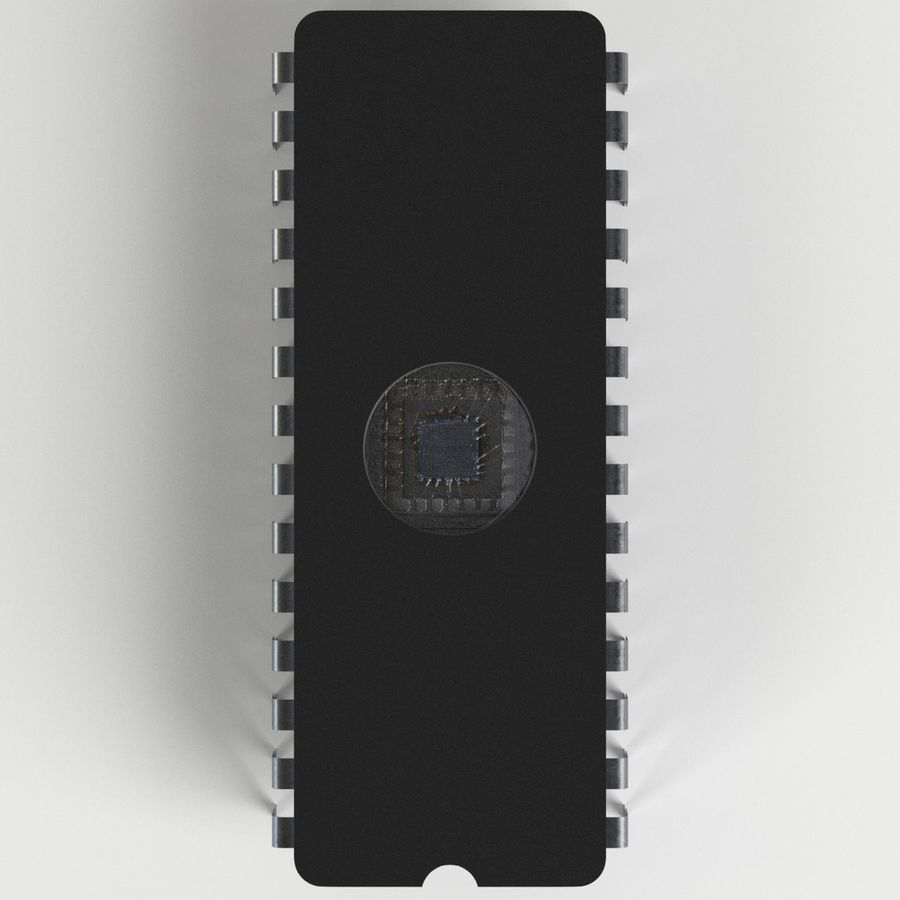 EPROM-Chip royalty-free 3d model - Preview no. 6