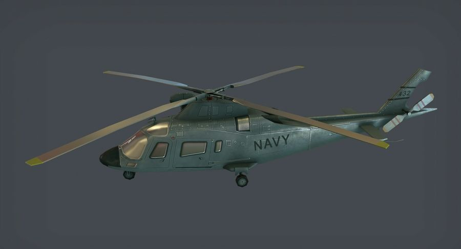Agusta AW-109 royalty-free 3d model - Preview no. 2