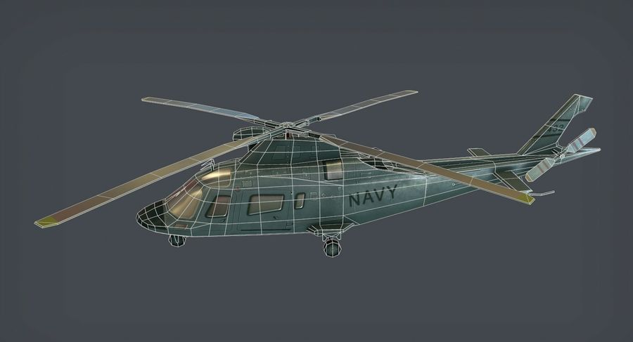 Agusta AW-109 royalty-free 3d model - Preview no. 6